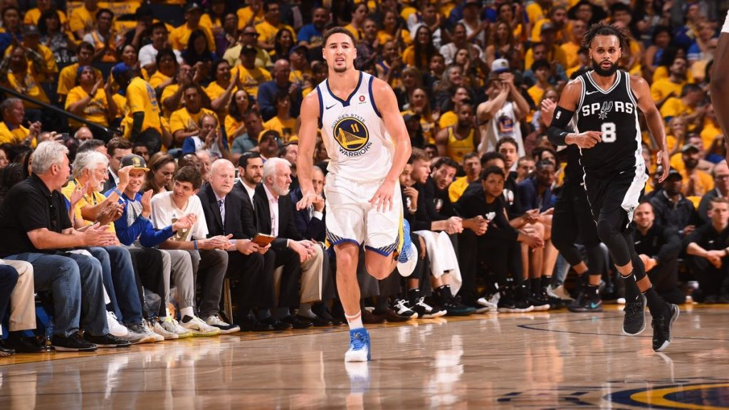 Klay Thompson Warriors Spurs
