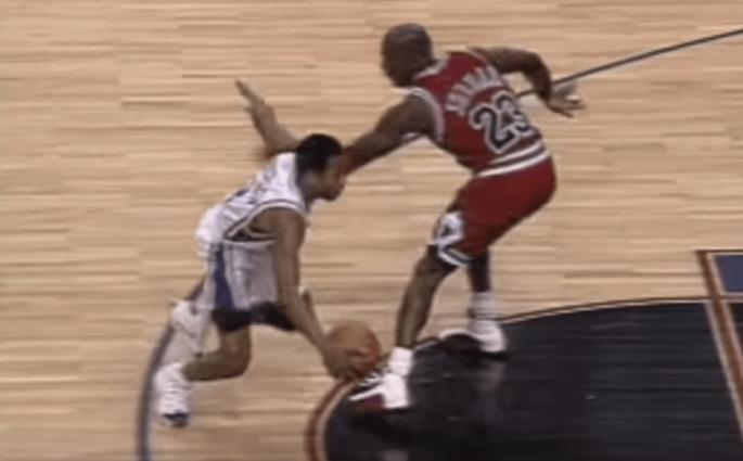 Michael Jordan crossover Allen Iverson