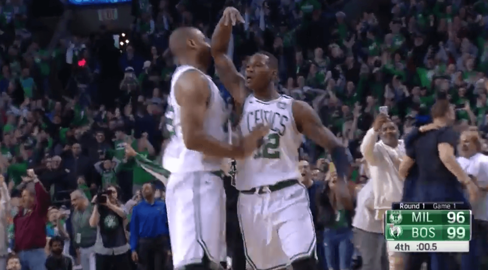 Victoire en prolongation pour Boston contre Milwaukee