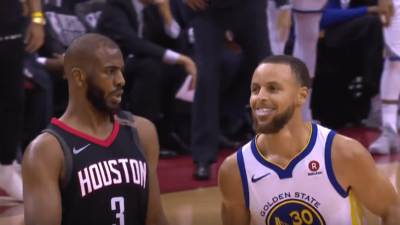 Chris Paul Stephen Curry Rockets Warriors Game 5