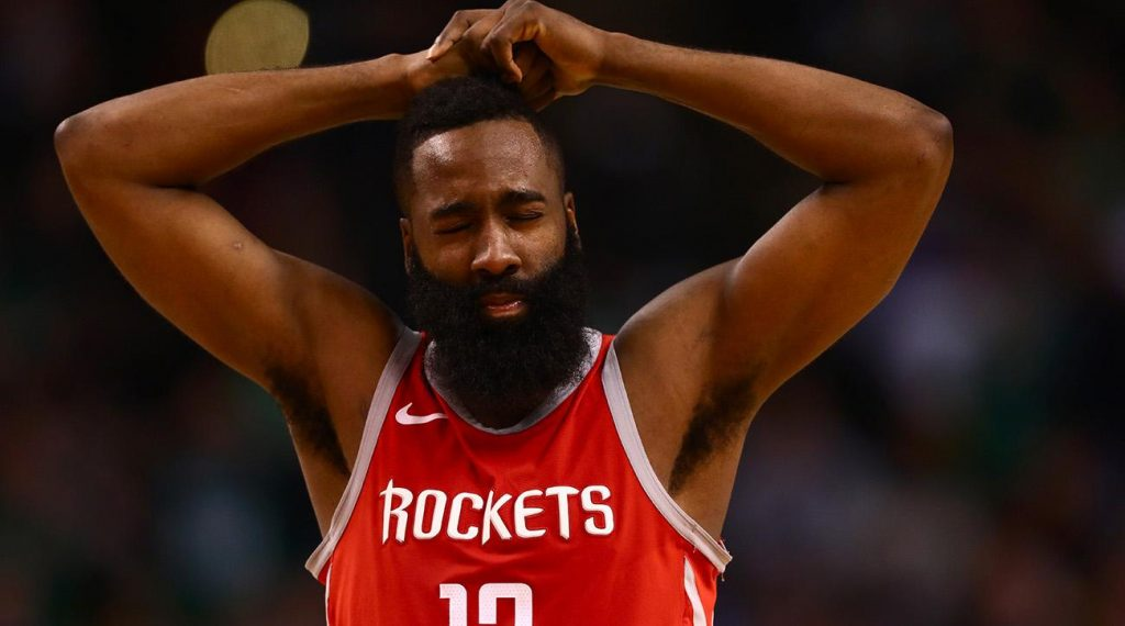 James Harden Rockets Warriors threes