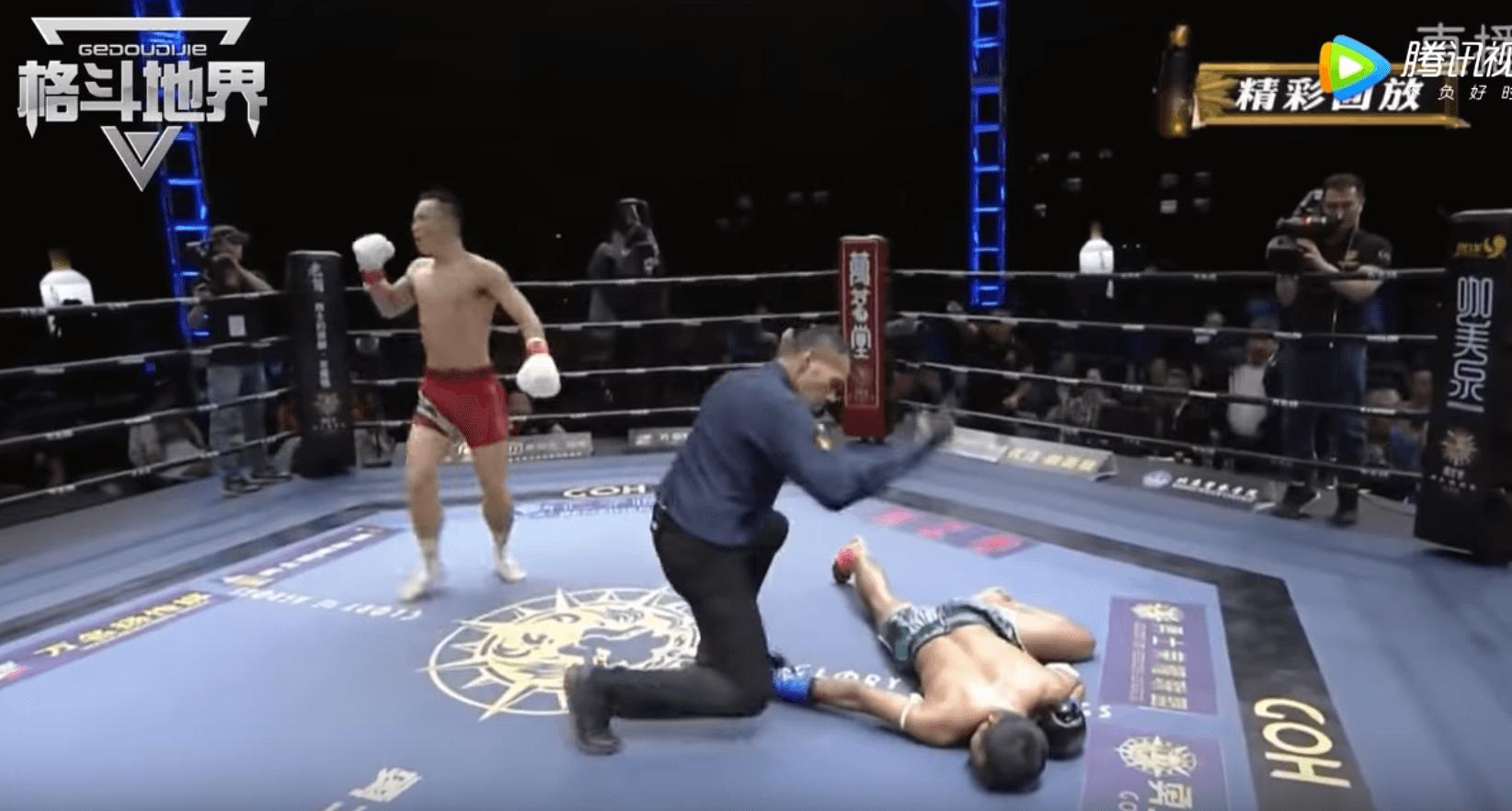 KO Spinning Hook Kick Glory of Heroes