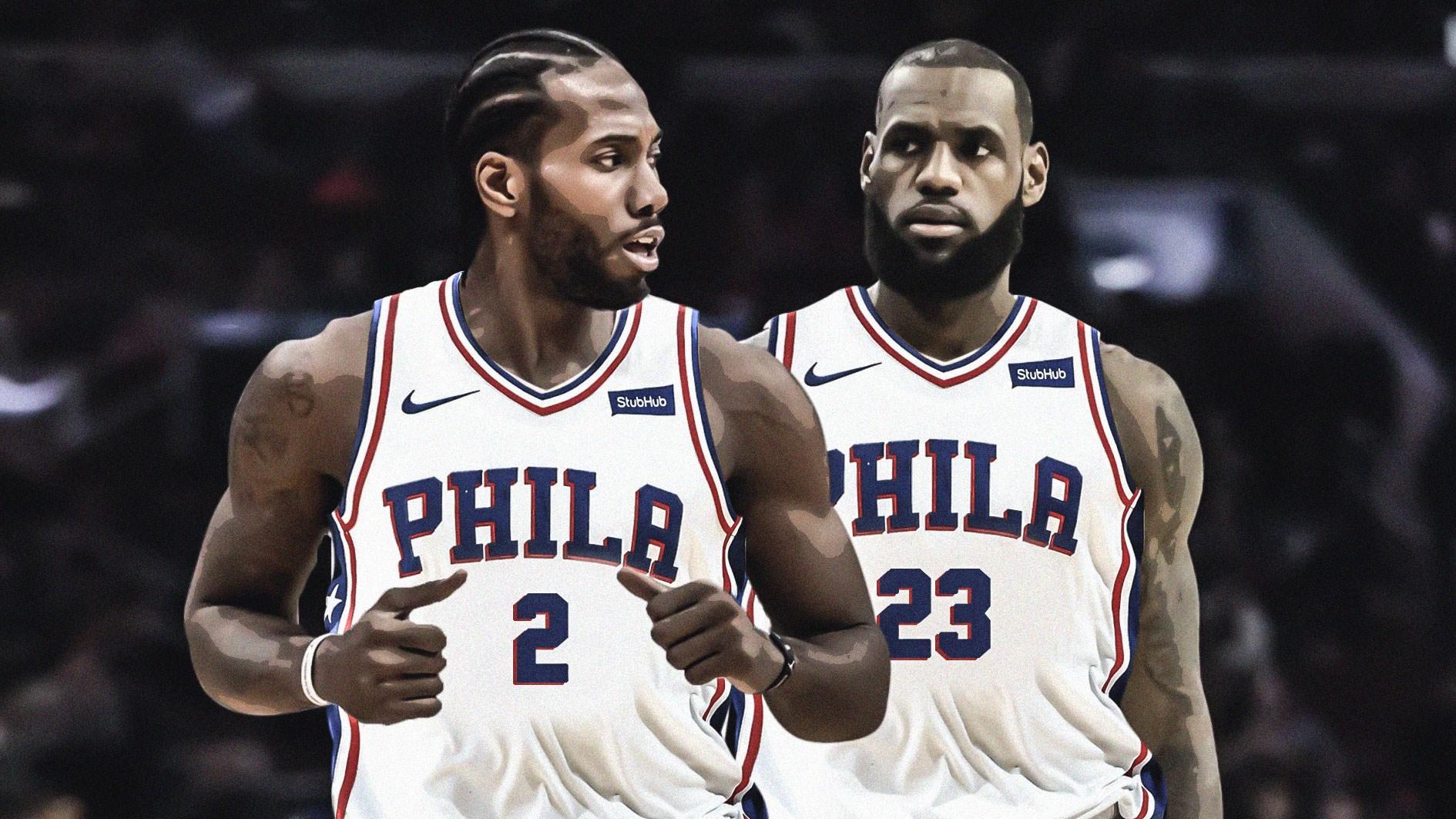 LeBron James Kawhi Leonard Philadelphia Sixers