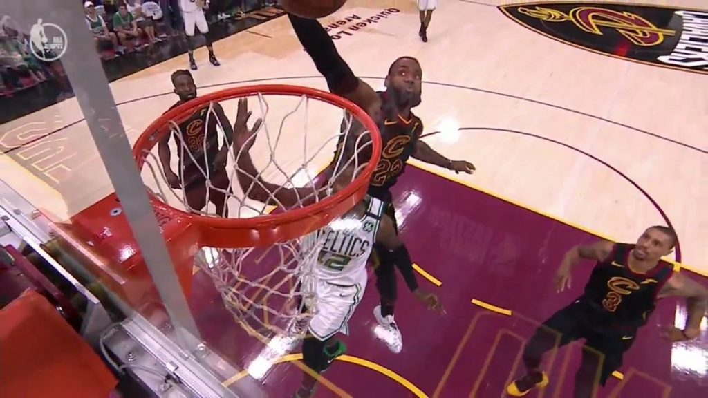 LeBron James Terry Rozier Block