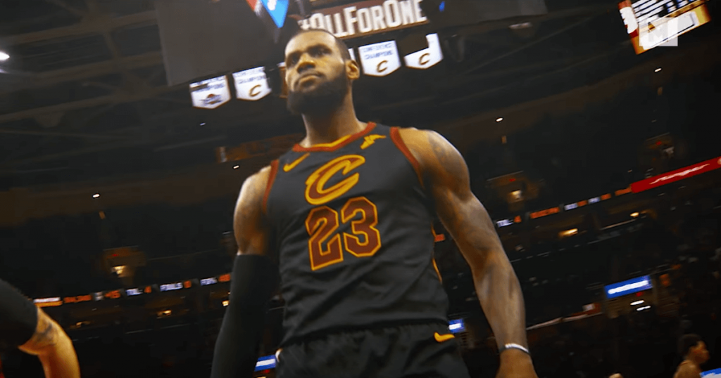 Le trailer de LeBron James en mode Thanos face aux Raptors