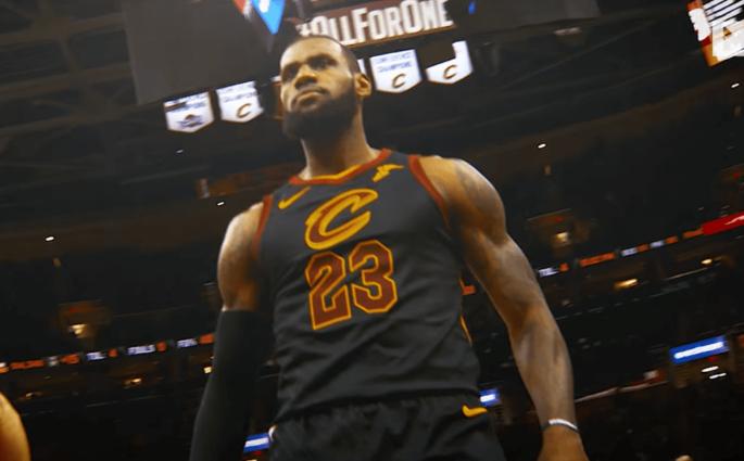 Le trailer de LeBron James en mode Thanos face aux Raptors