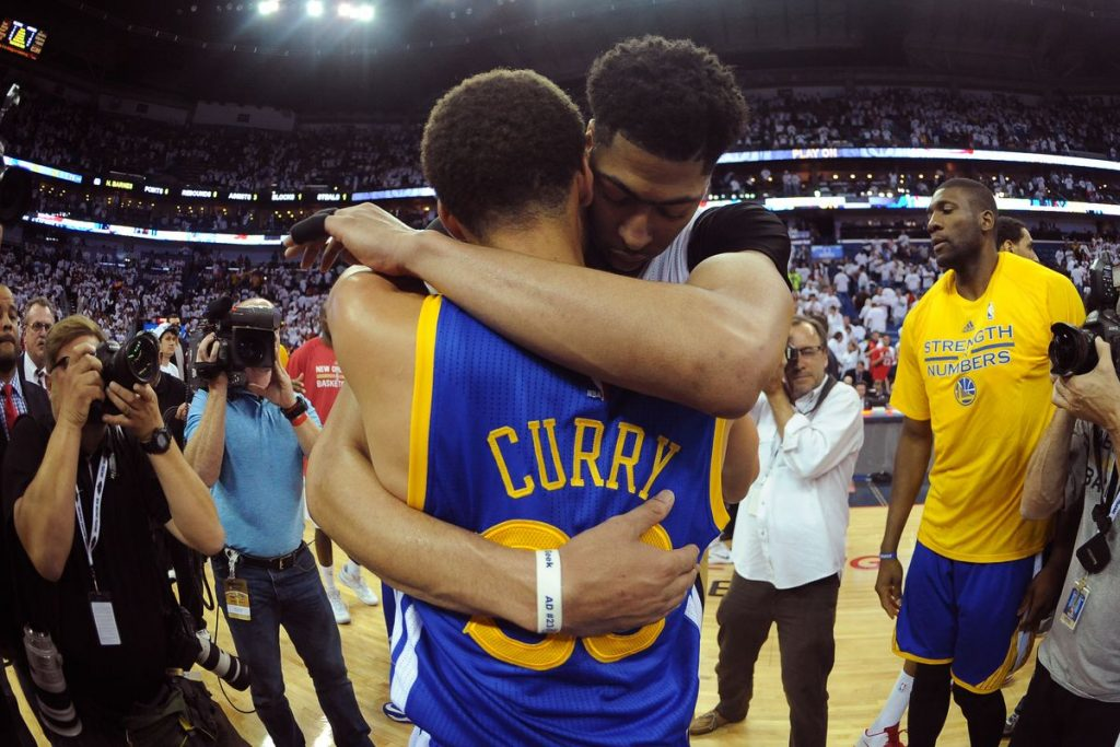 Anthony Davis Stephen Curry Warriors