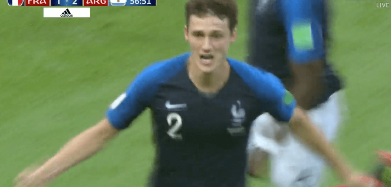 Benjamin Pavard but France Argentine