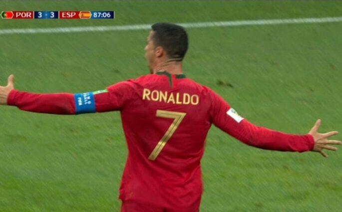 Cristiano Ronaldo trois Espagne