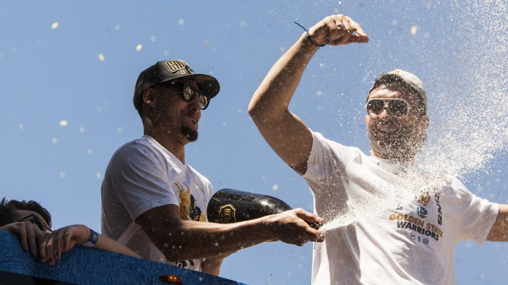 Golden State Warriors parade alcool
