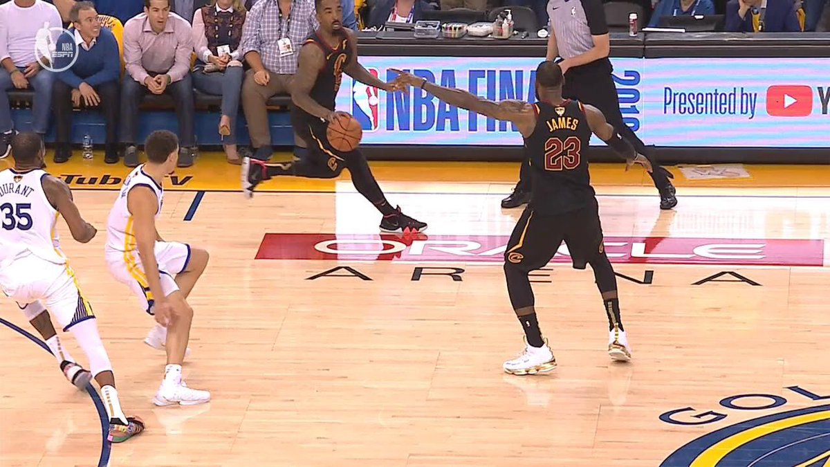 JR Smith LeBron James Game 1 Warriors