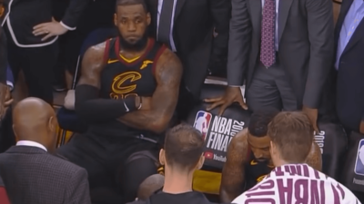 LeBron James Game 1 frustrated Warriors