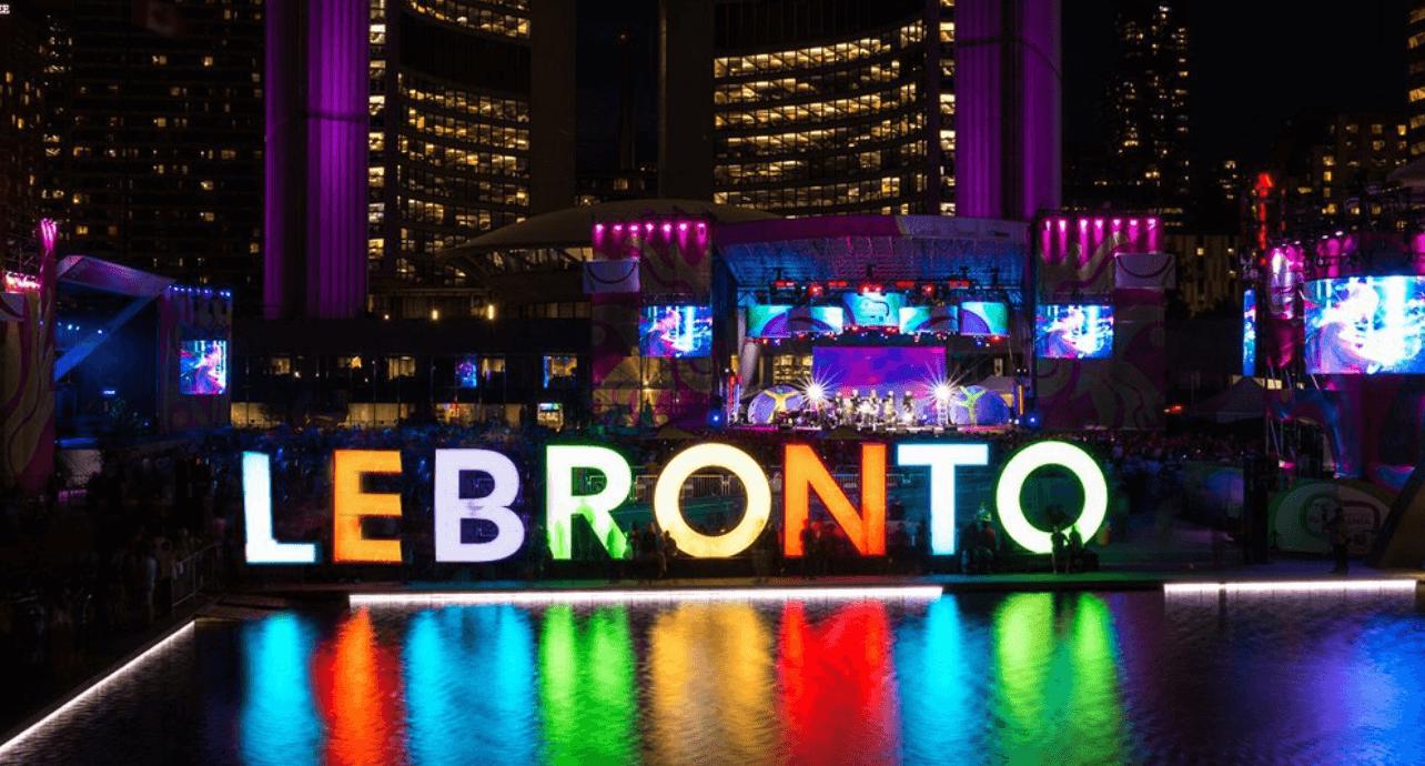 LeBronto Toronto NBA