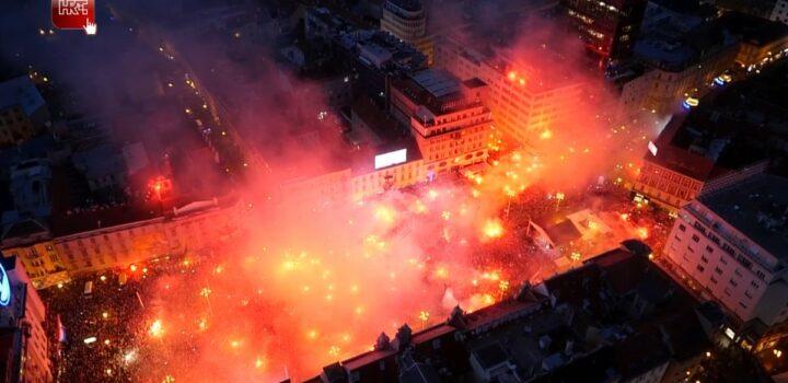 500 000 personnes ont accueilli l'Équipe de Croatie à Zagreb
