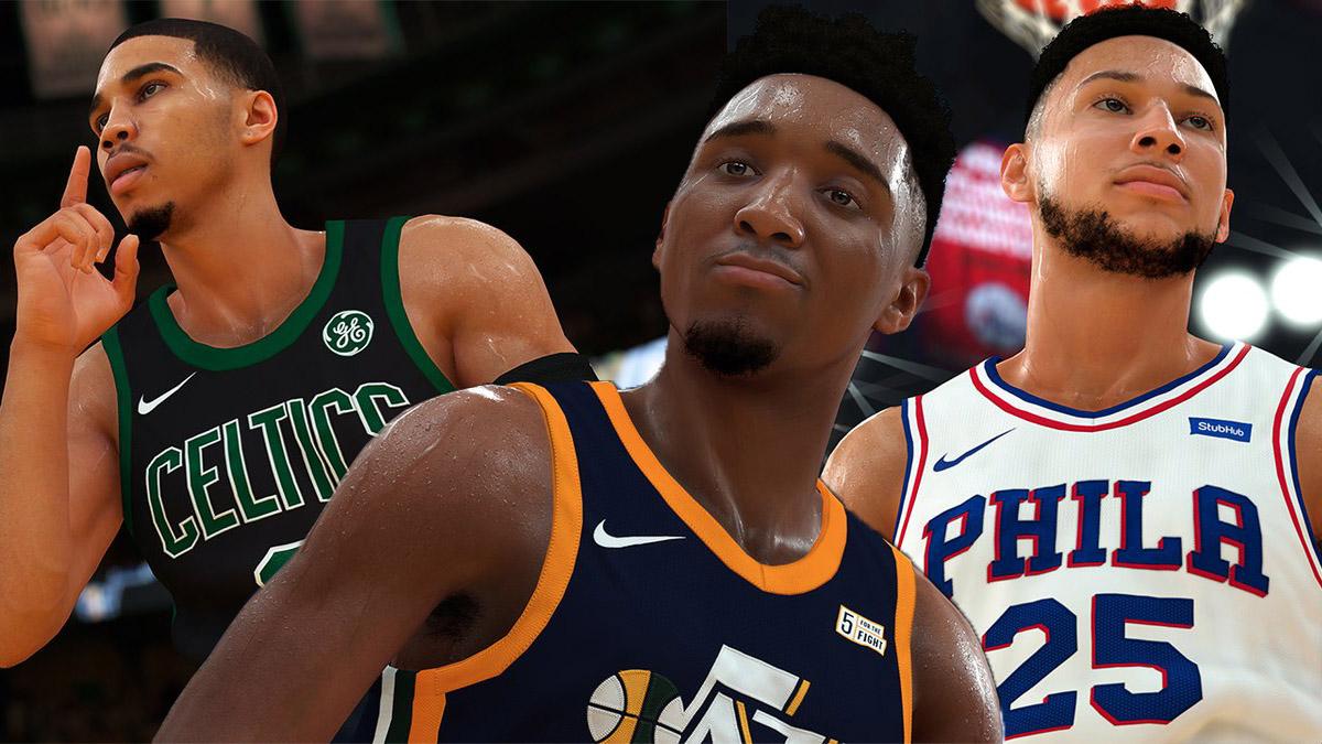 Donovan Mitchell Jayson Tatum Ben Simmons NBA 2K19