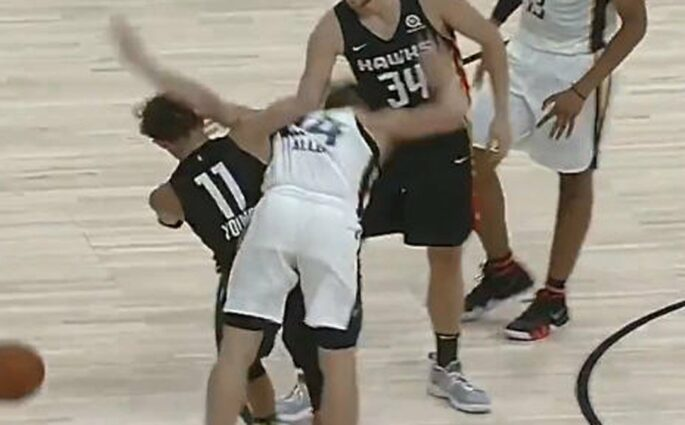 Embrouille entre Grayson Allen et Trae Young en Summer League