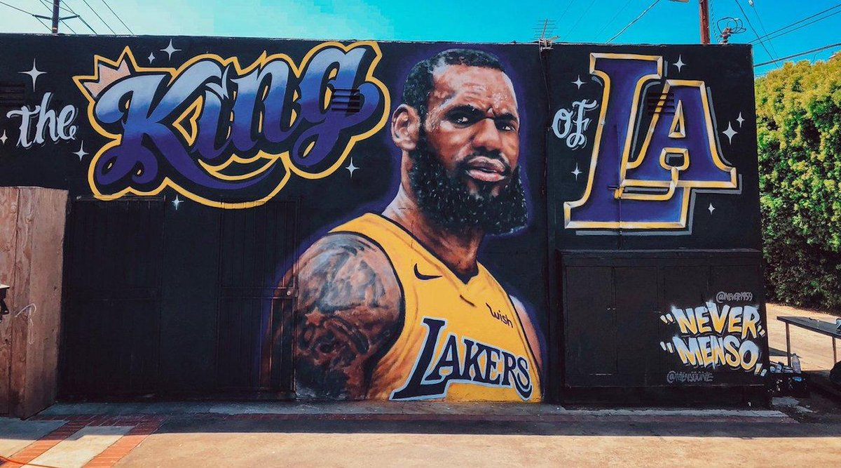 LeBron James mural Los Angeles