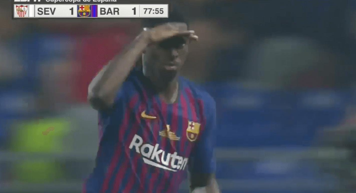 Sur une mine en barre rentrante, Dembélé offre la Supercoupe d'Espagne au FC Barcelone