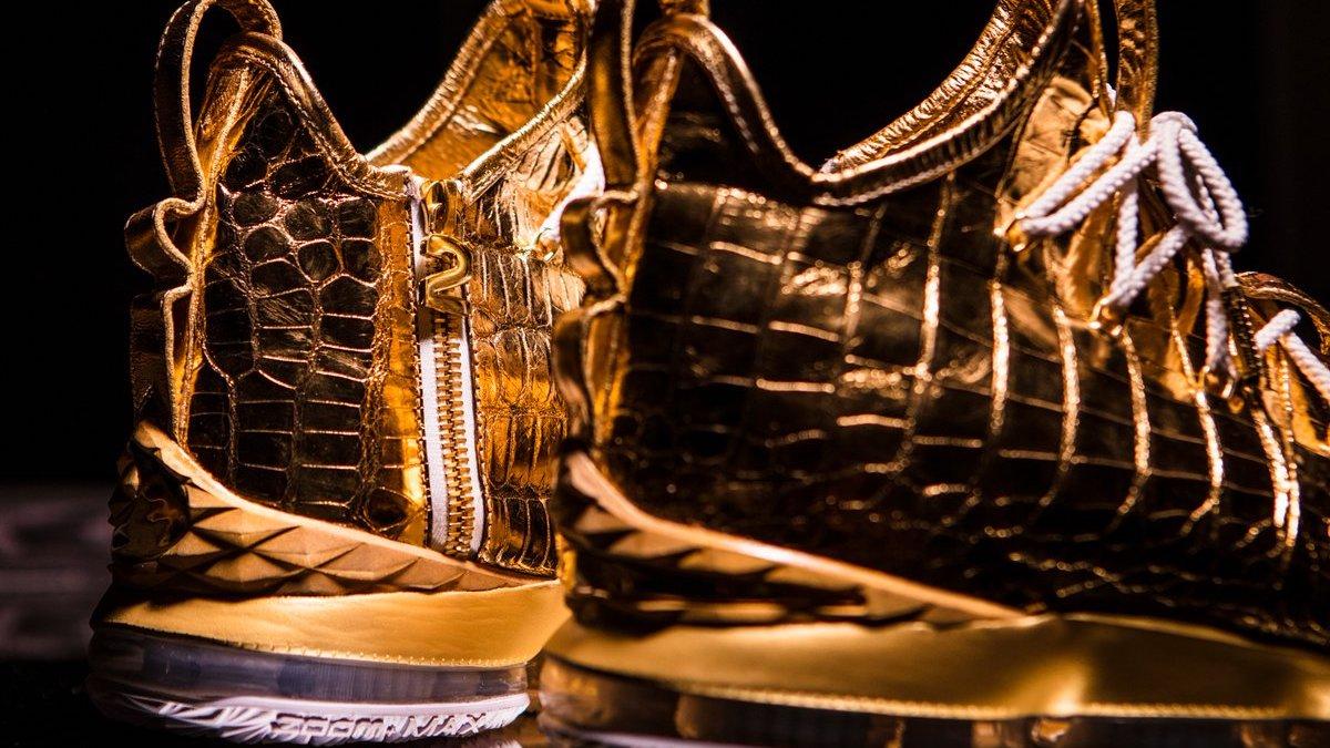 LeBron 15 Diamond and Gold