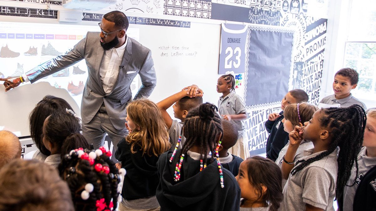 LeBron James I Promise School