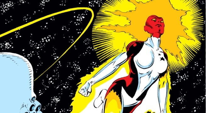 Captain Marvel feu