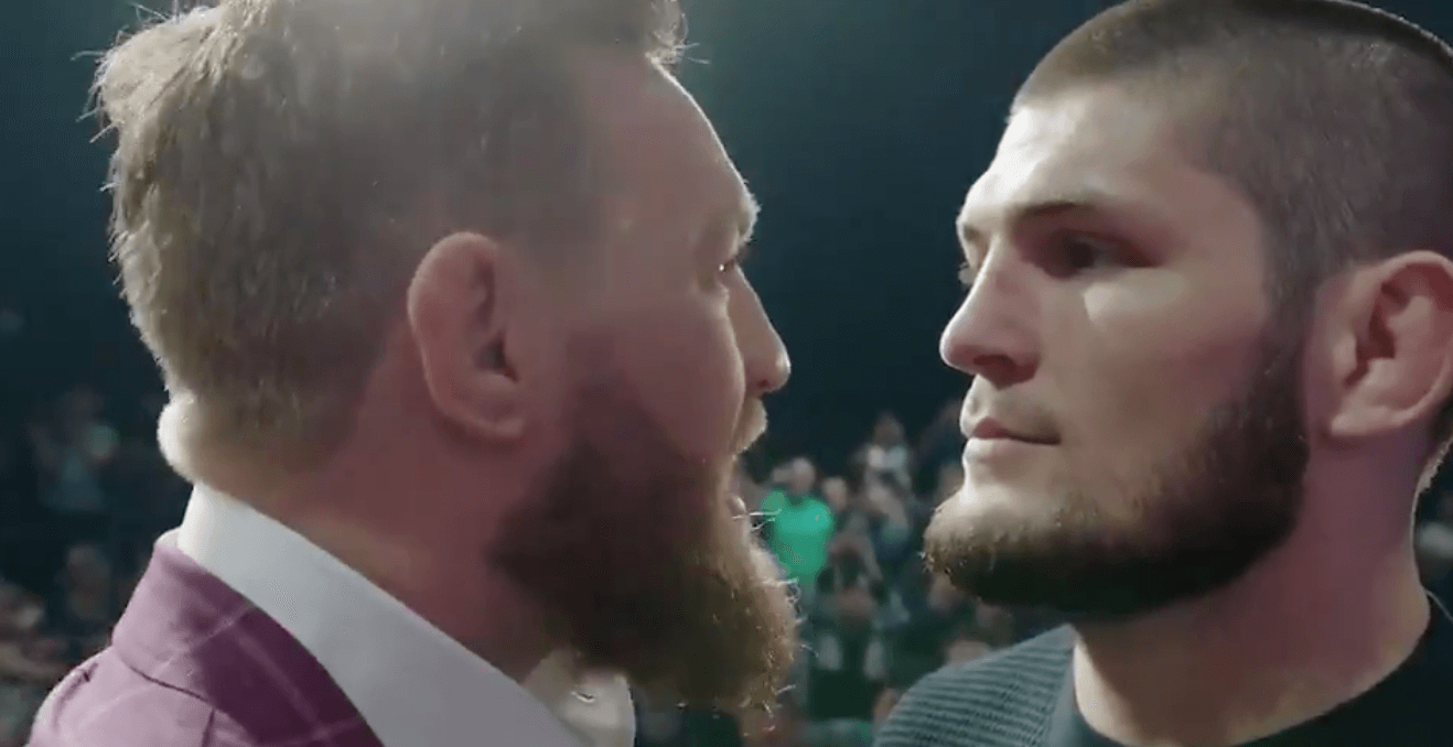 Conor McGregor Khabib Nurmagomedov face to face