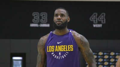 LeBron James Lakers workout