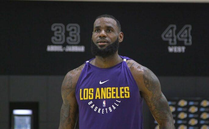 LeBron James Lakers workout