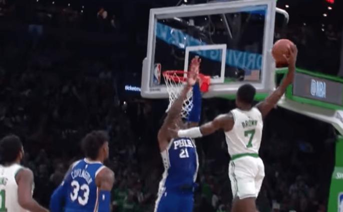 Joel Embiid Jaylen Brown Sixers Celtics