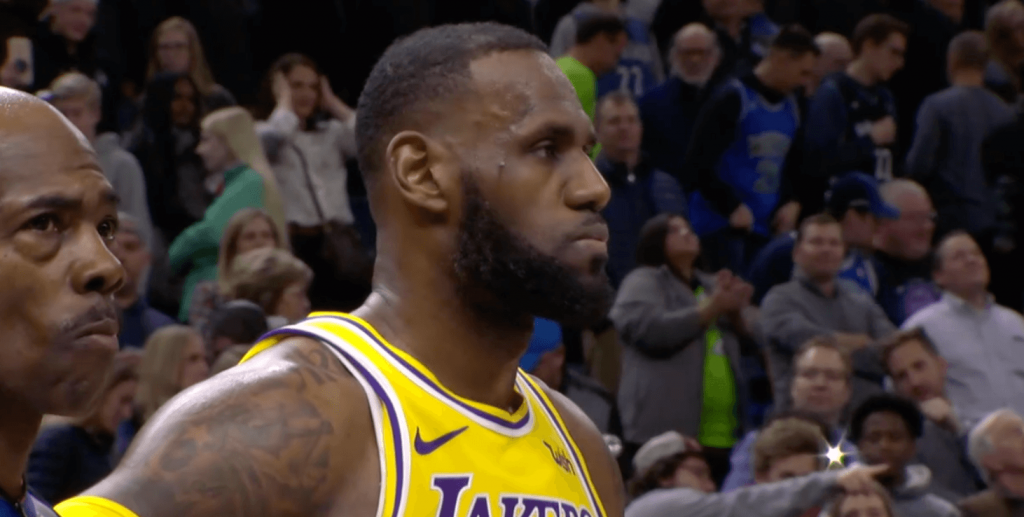 LeBron James Lakers Wolves
