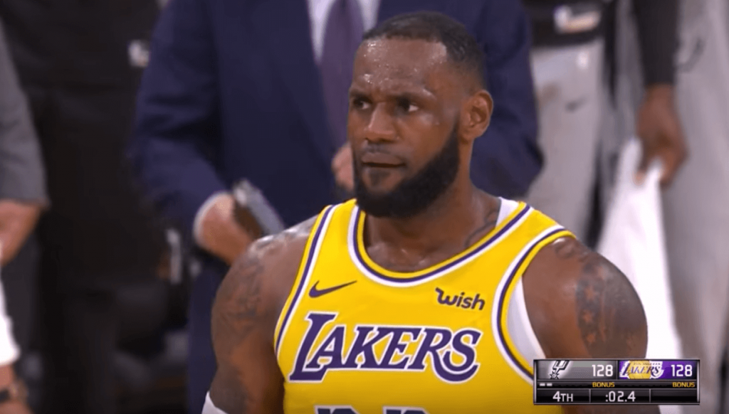 Spurs Lakers LeBron James