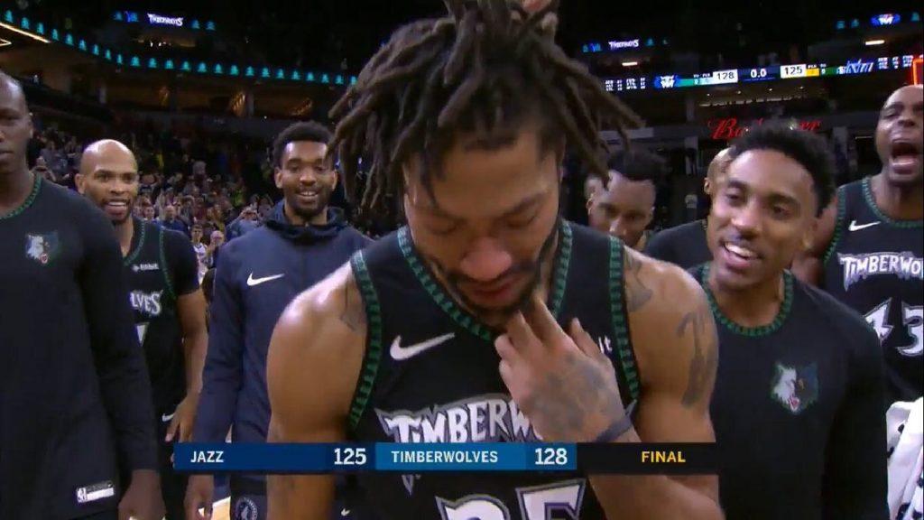 Derrick Rose NBA Wolves Utah Jazz