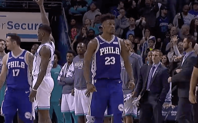 Jimmy Butler Sixers Hornets