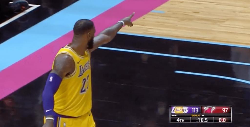 LeBron James Miami Lakers