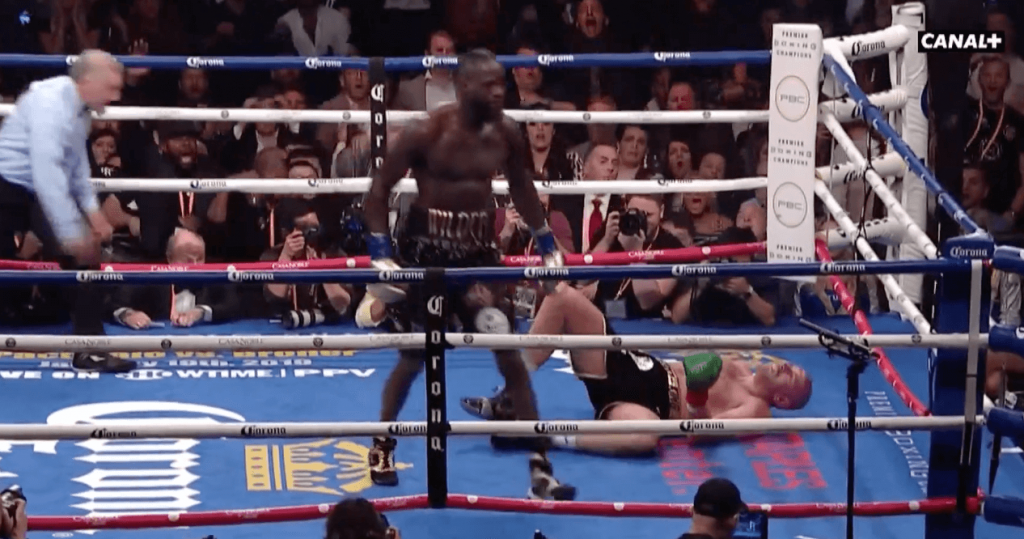 Deontay Wilder Tyson Fury knockdown