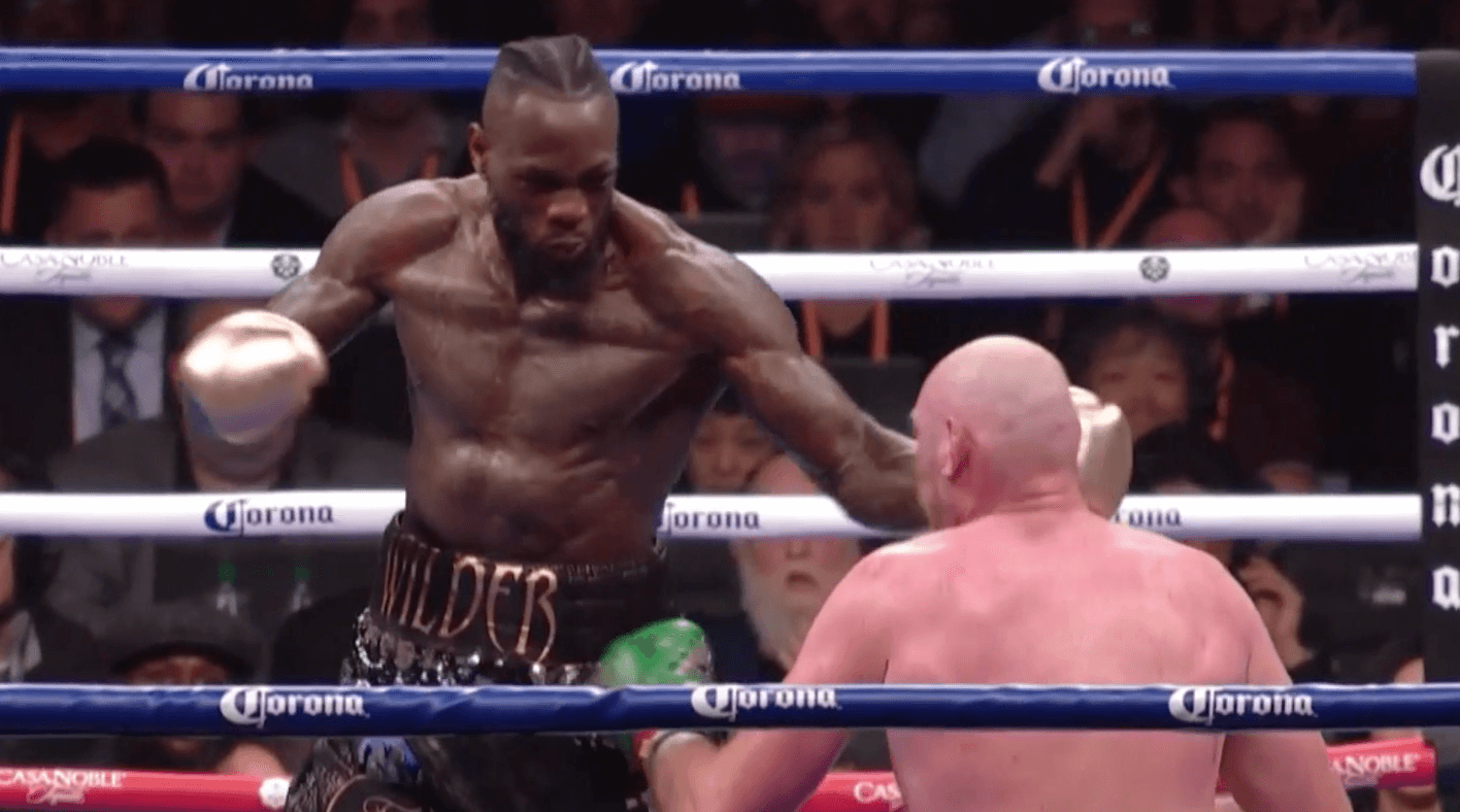 Deontay Wilder Tyson Fury punch