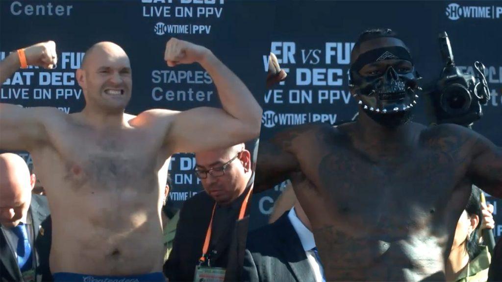 Deontay Wilder Tyson Fury weigh in