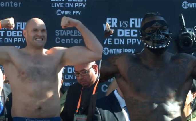 Deontay Wilder Tyson Fury weigh in
