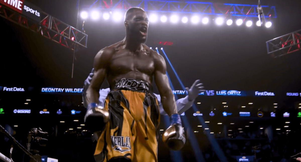 Deontay Wilder celebration