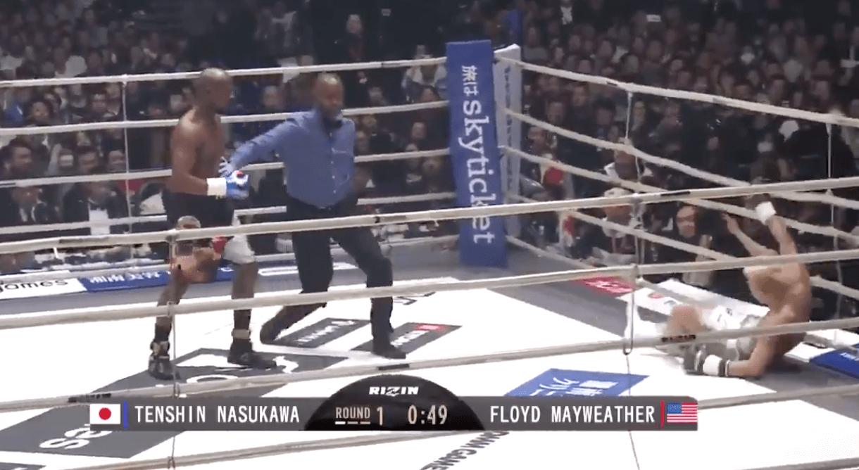 Floyd Mayweather KO Tenshin Nasukawa
