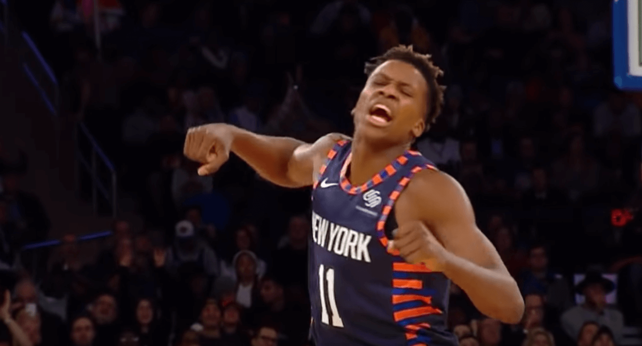 Frank Ntilikina celebration