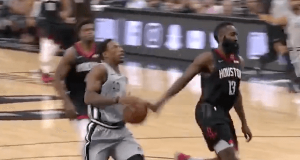 Houston Rockets San Antonio Spurs Harden DeRozan