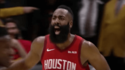 James Harden celebration Rockets