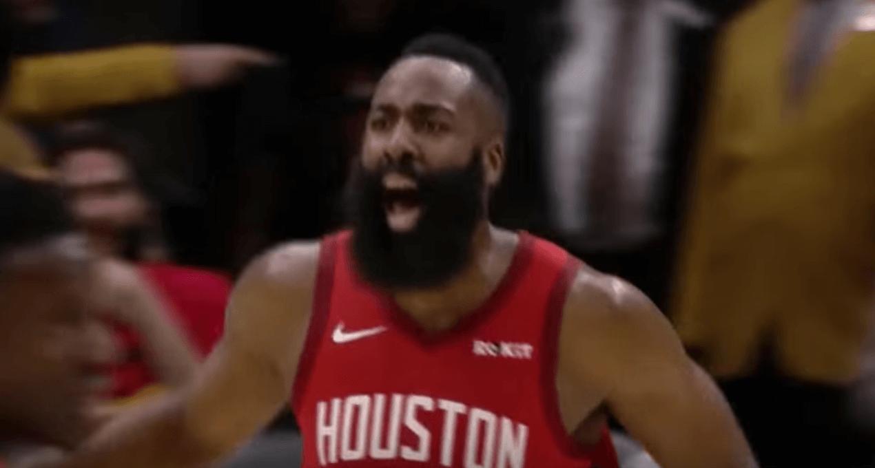 James Harden celebration Rockets