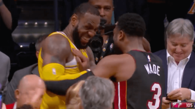 LeBron James Dwyane Wade exchange