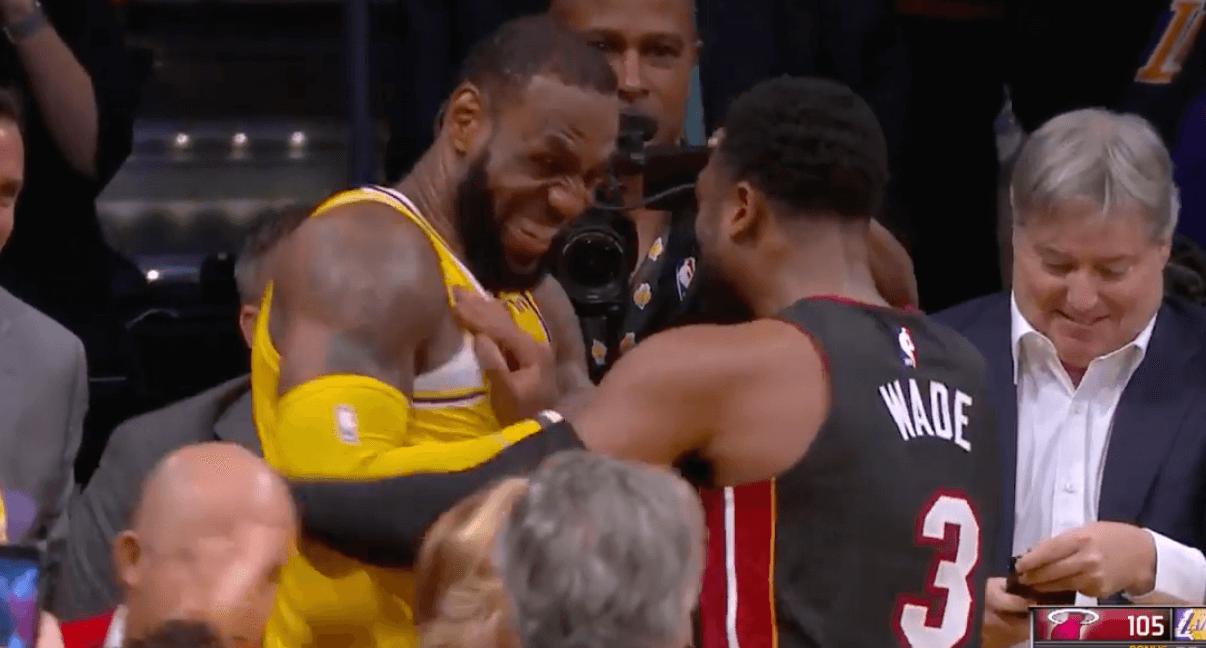 LeBron James Dwyane Wade exchange