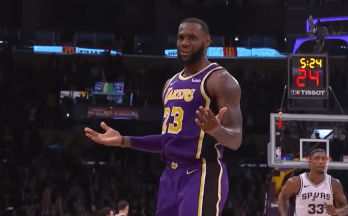 LeBron James Lakers Spurs