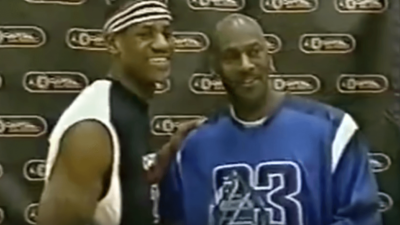 LeBron James Michael Jordan first meeting