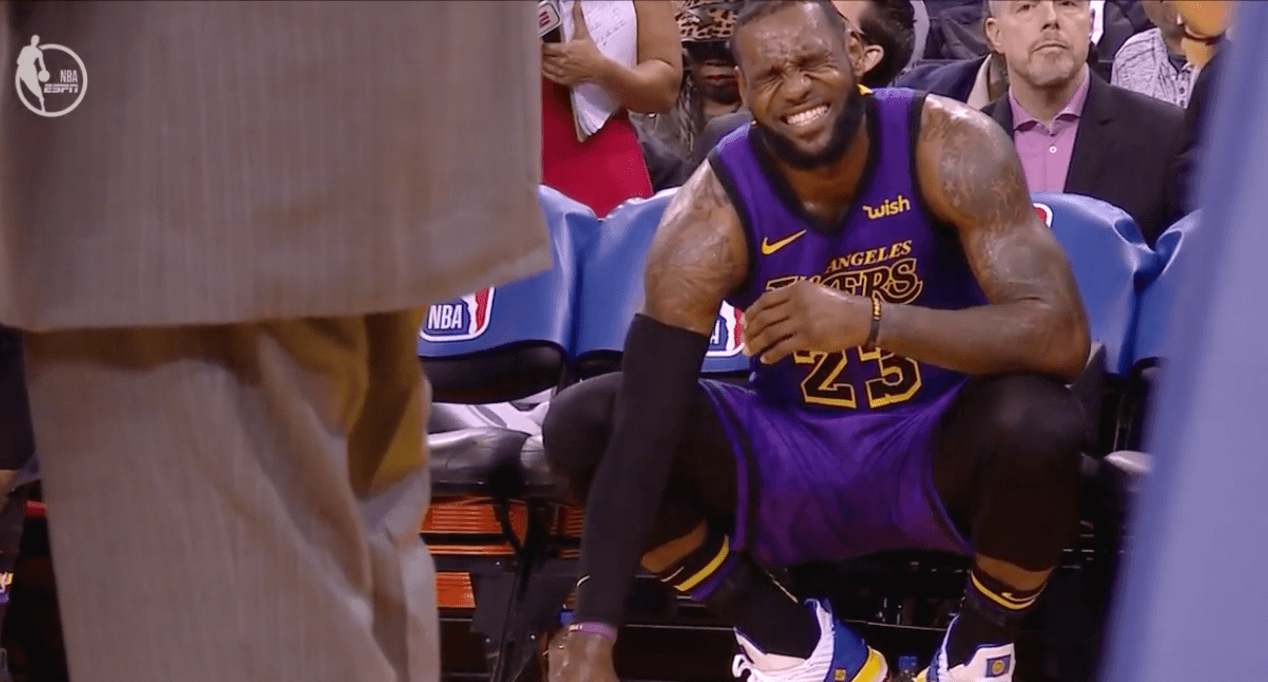 LeBron James blessure