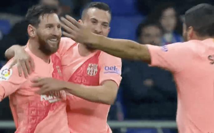 Lionel Messi Espanyol Barcelone
